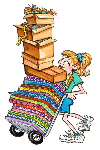 Behind every quilter is. Quilting clipart pile
