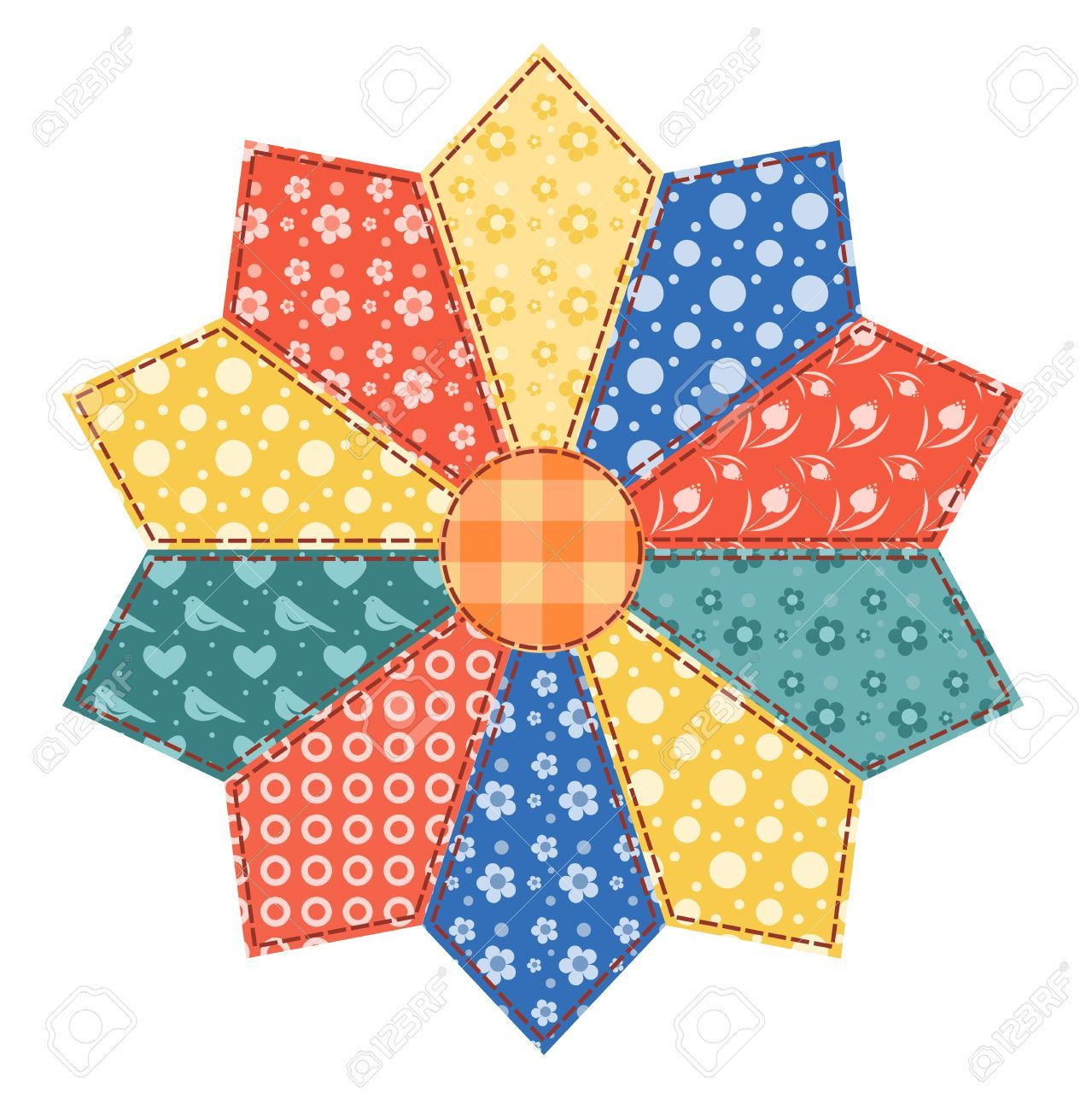 Stock illustrations cliparts and. Quilting clipart quilt pattern
