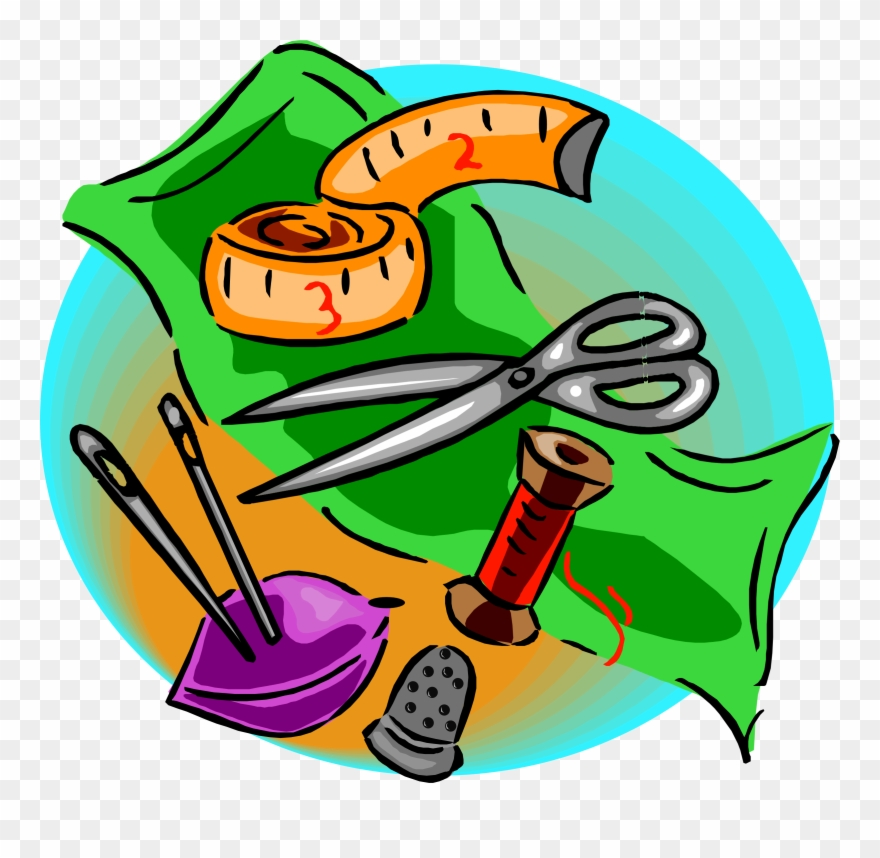 Quilting clipart quilting tool. Quilt cartoon sewing tools