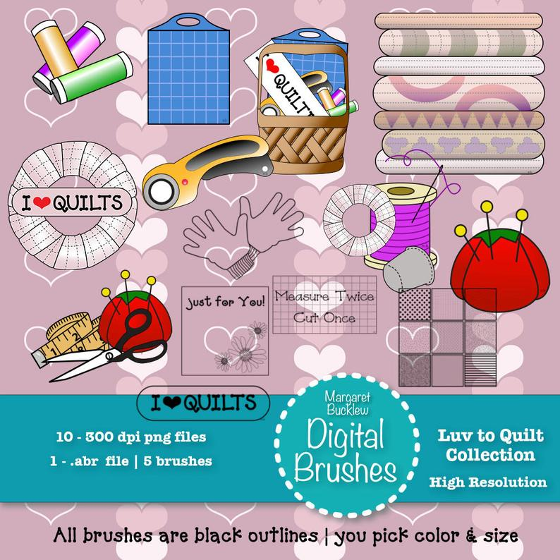 Clip art and ps. Quilting clipart sewing group
