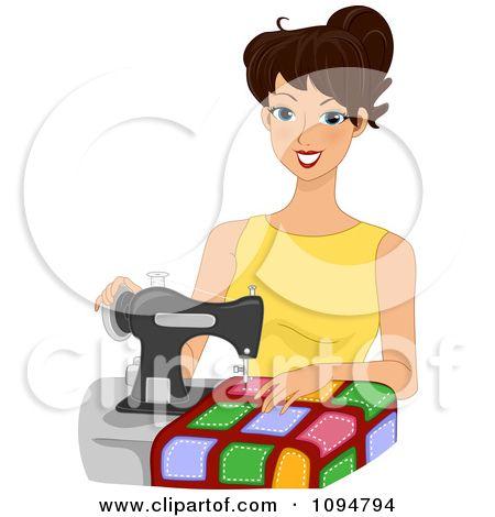 Quilt clipart dressmaking. Sewing supplies clip art