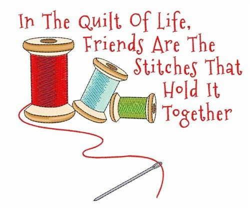 Quilt of life embroidery. Quilting clipart thread