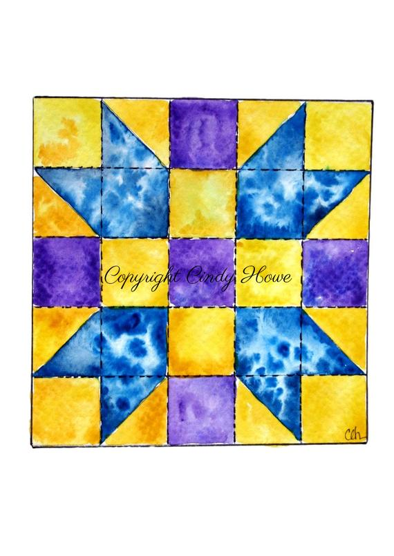 Quilt block png file. Quilting clipart transparent