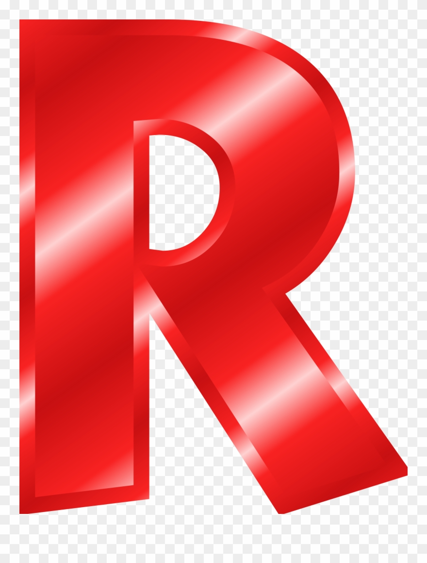 Letter color red pinclipart. R clipart