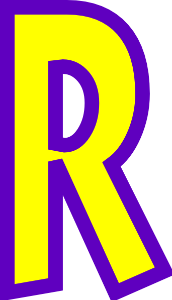 Letter . R clipart