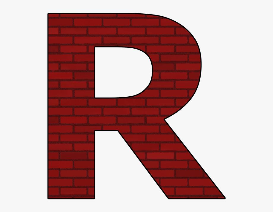R clipart. Alphabet letter abc transparent