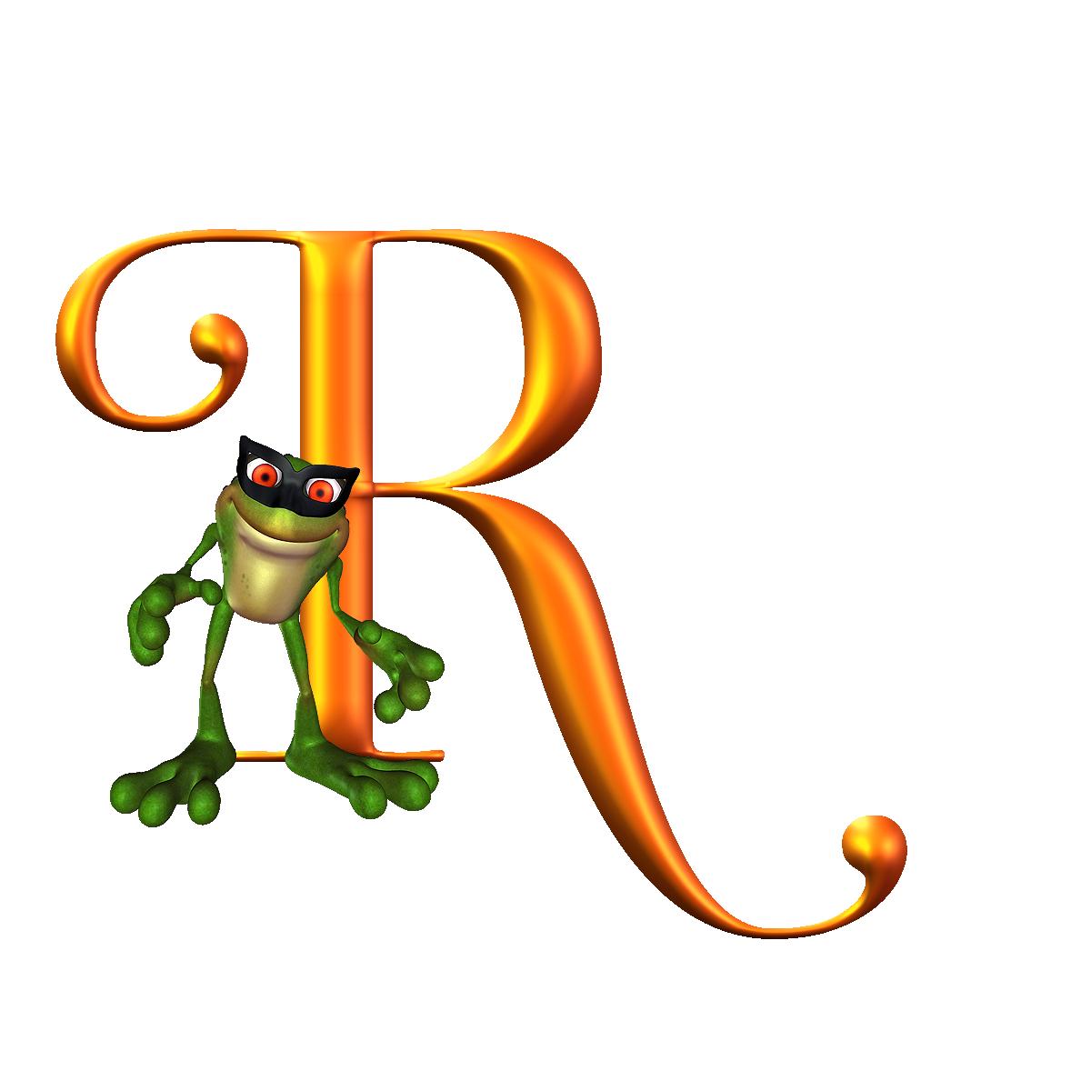 Alfabeto con ranita letters. R clipart alphabet r