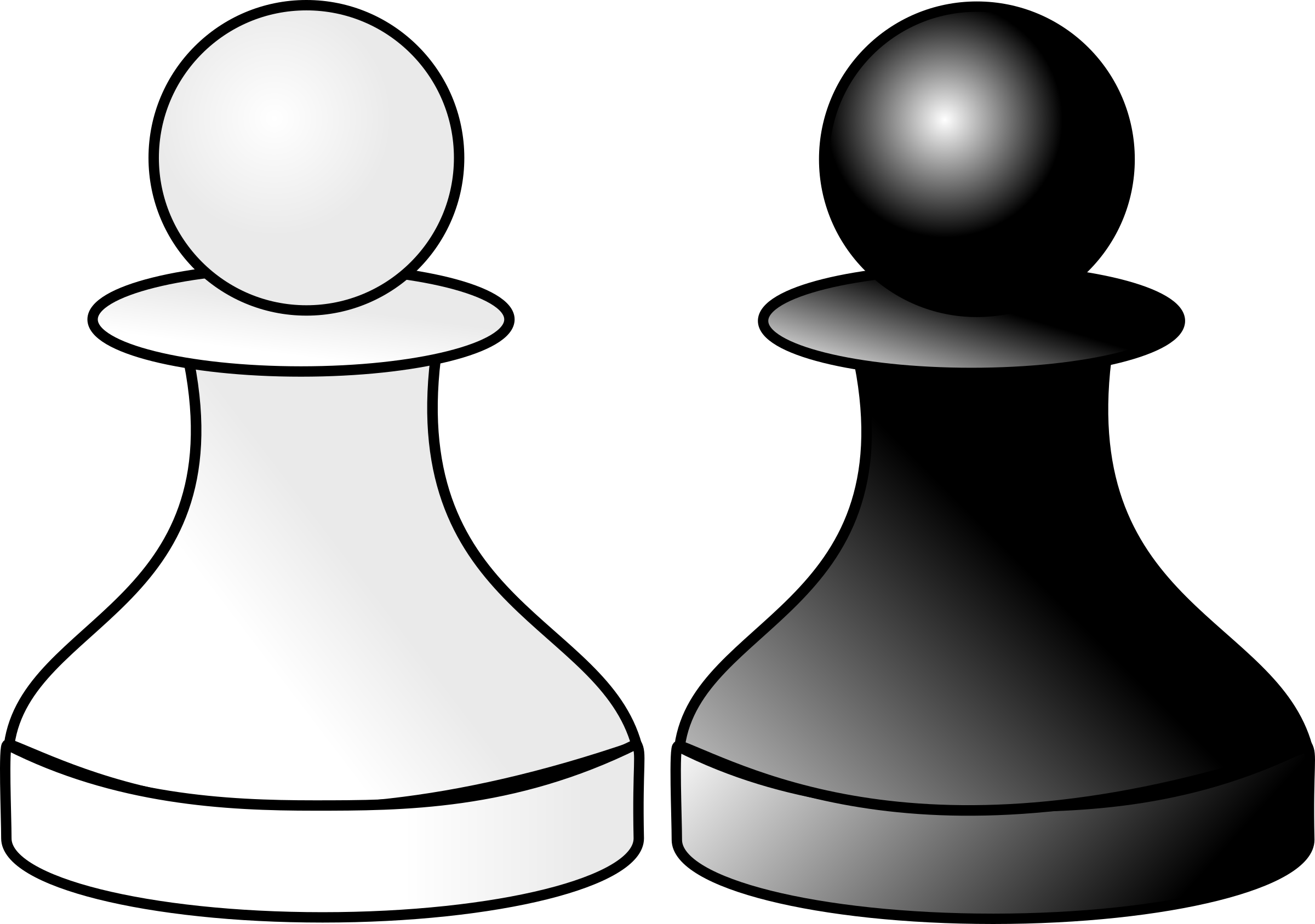 Pawns d big image. R clipart black and white