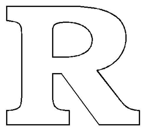 R clipart block letter. Alphabet numbers patterns