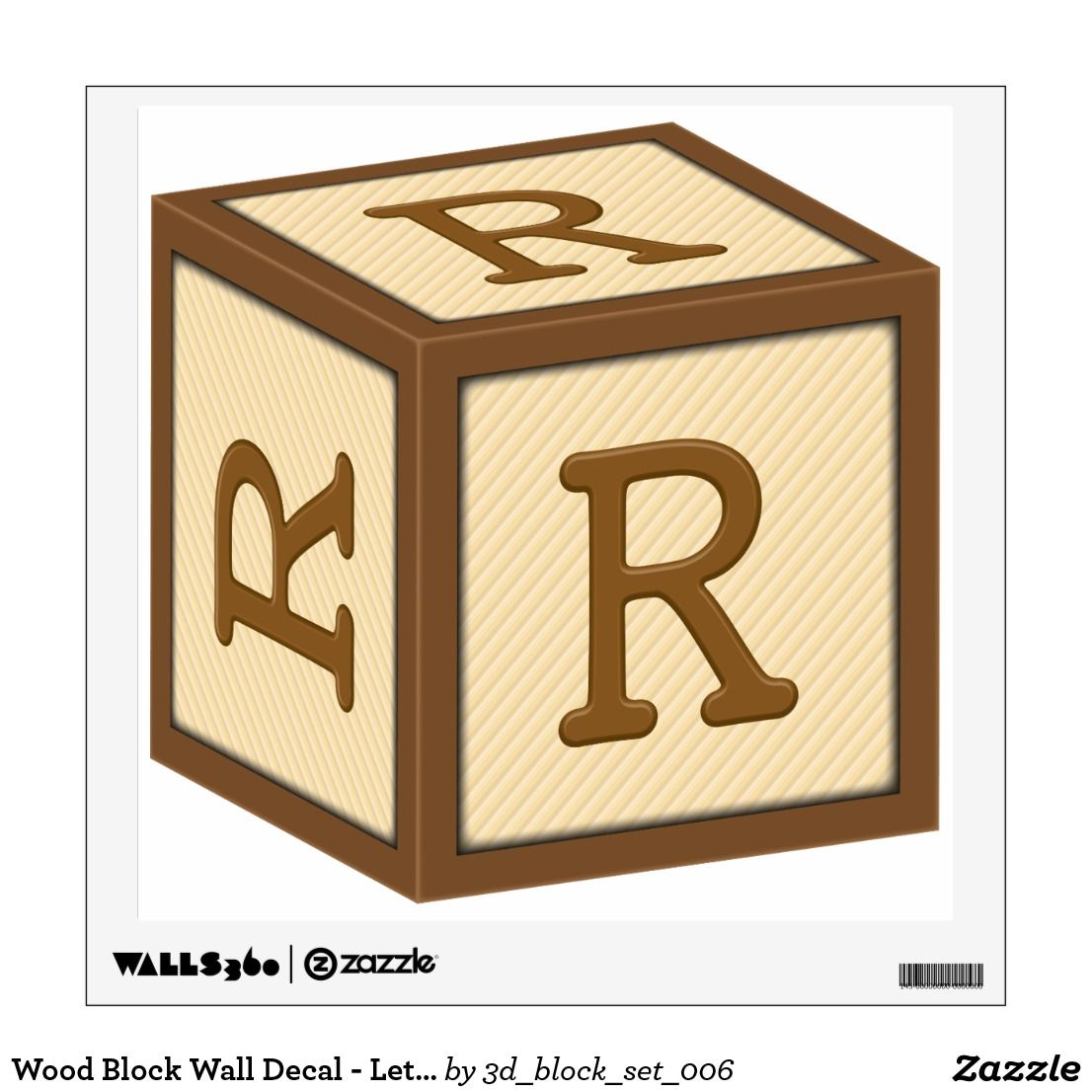 This wall decal features. R clipart block letter