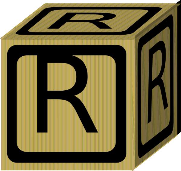 R clipart block letter. Alphabet clip art at