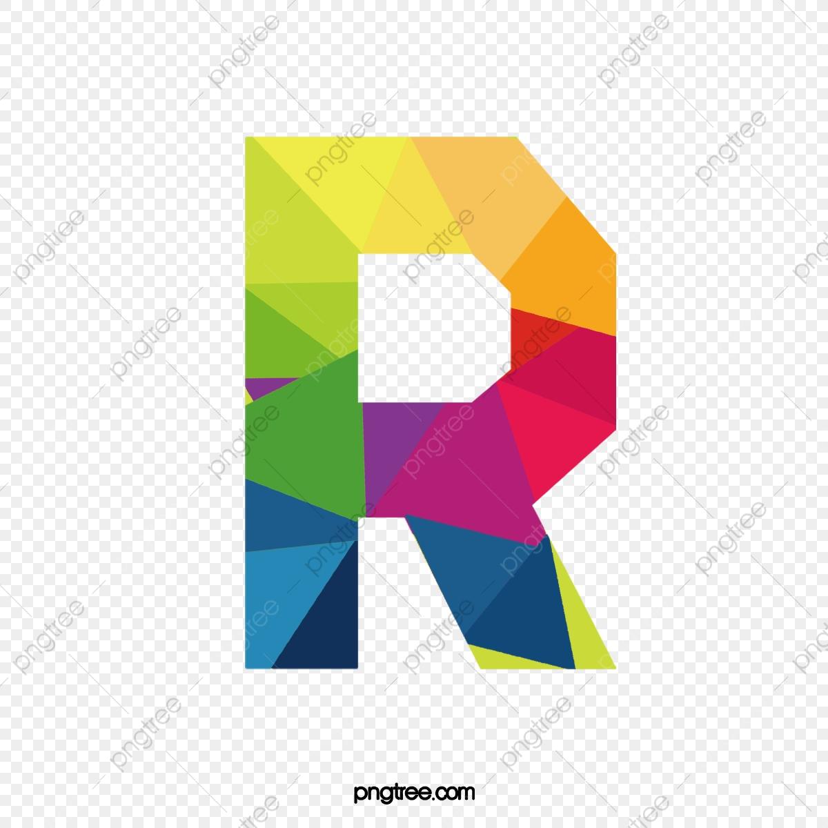 Letters letter png transparent. R clipart colorful