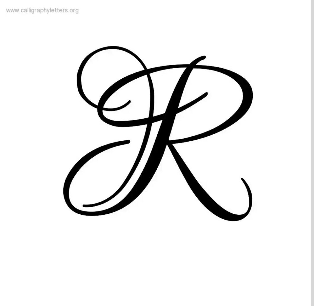 R clipart cursive r. Letter calligraphy tattoo fonts