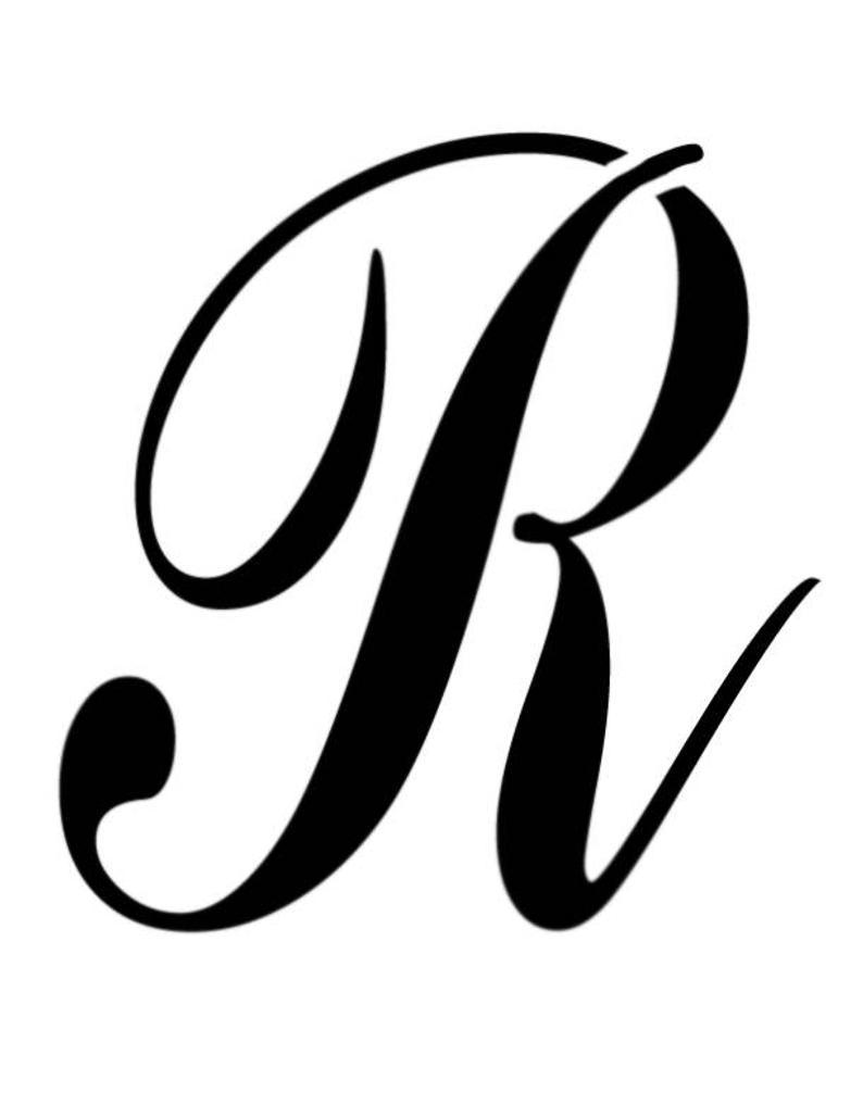 Large big script letter. R clipart cursive r