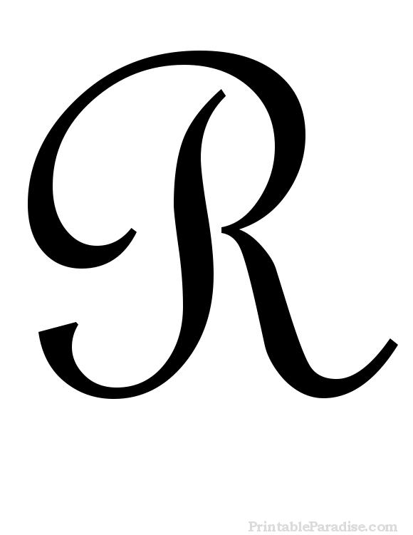 R clipart fancy writing. Printable cursive letter print