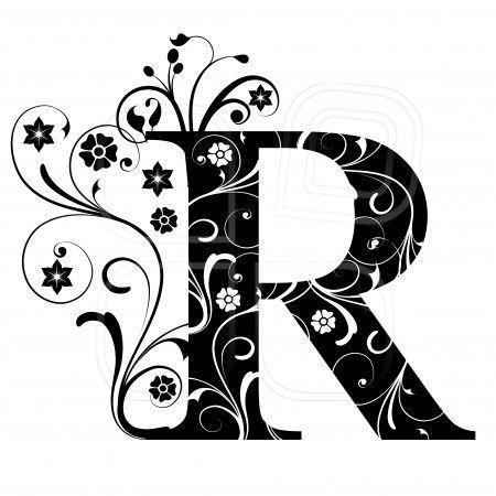 R clipart fancy writing. Letter capital alphabet arabic
