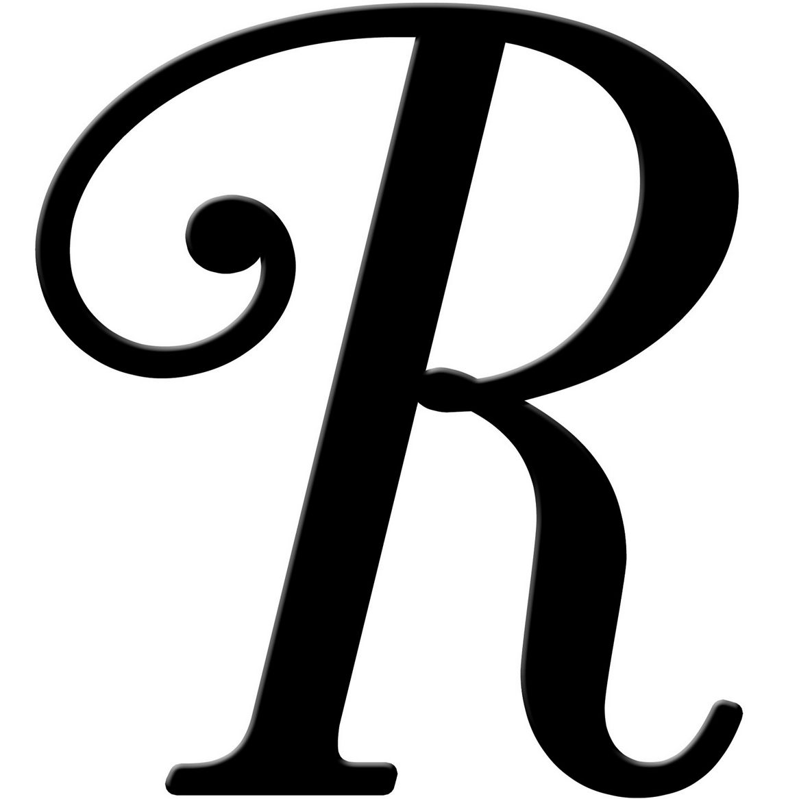 R clipart fancy writing, R fancy writing Transparent FREE ...