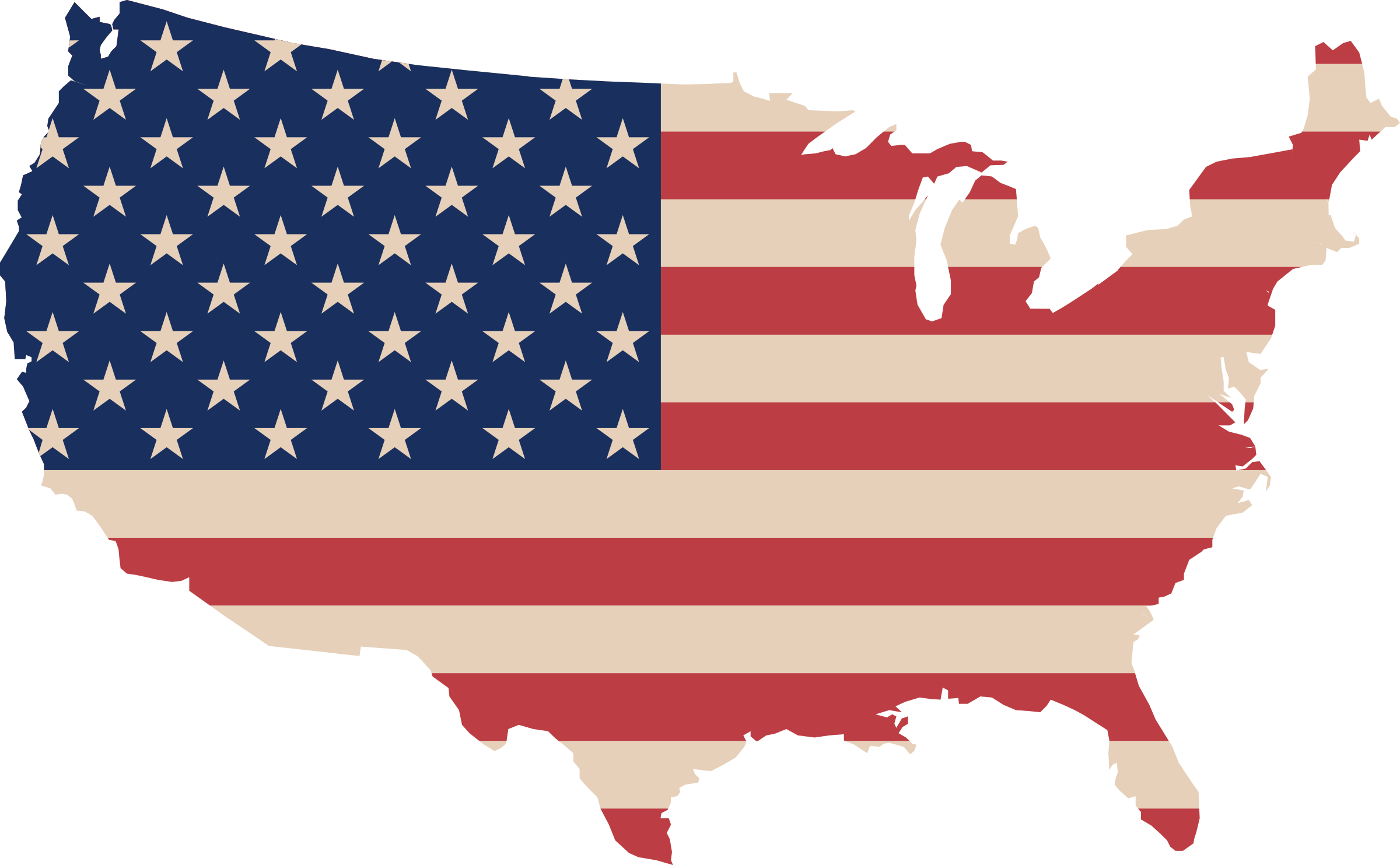 R clipart flag. Usa map and big