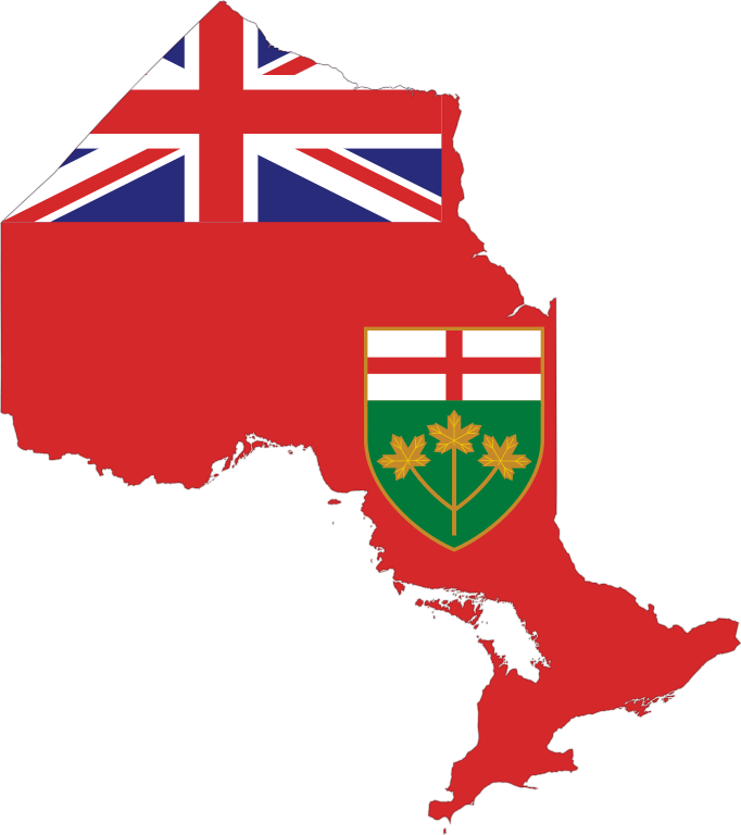 File map of ontario. R clipart flag