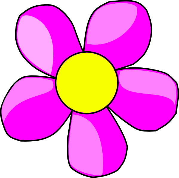 R clipart flower. Pink clip art at