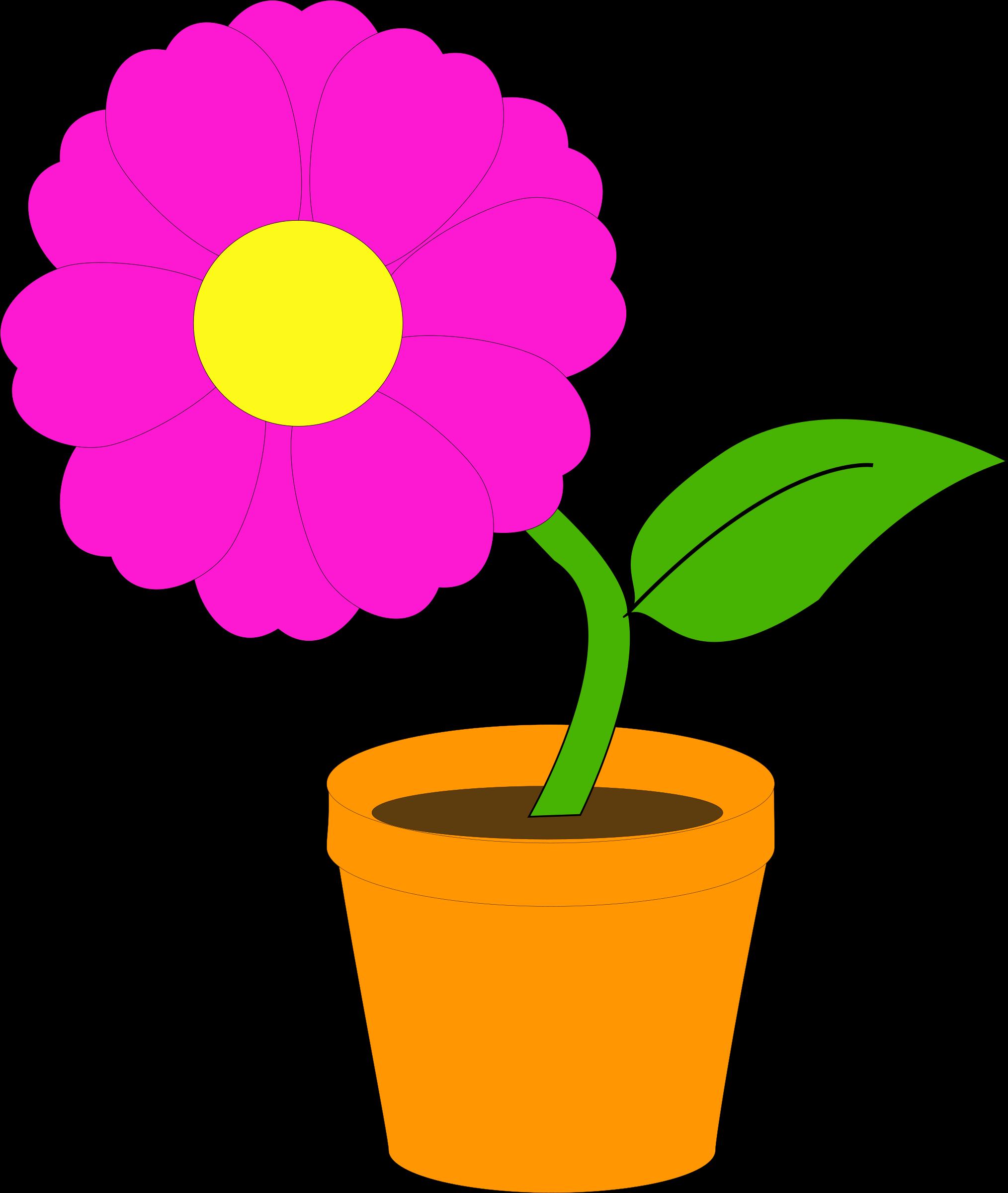 R clipart flower. Flowerandpot daniel ste big