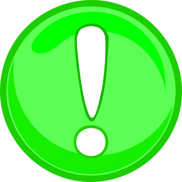 Green caution clip art. R clipart icon