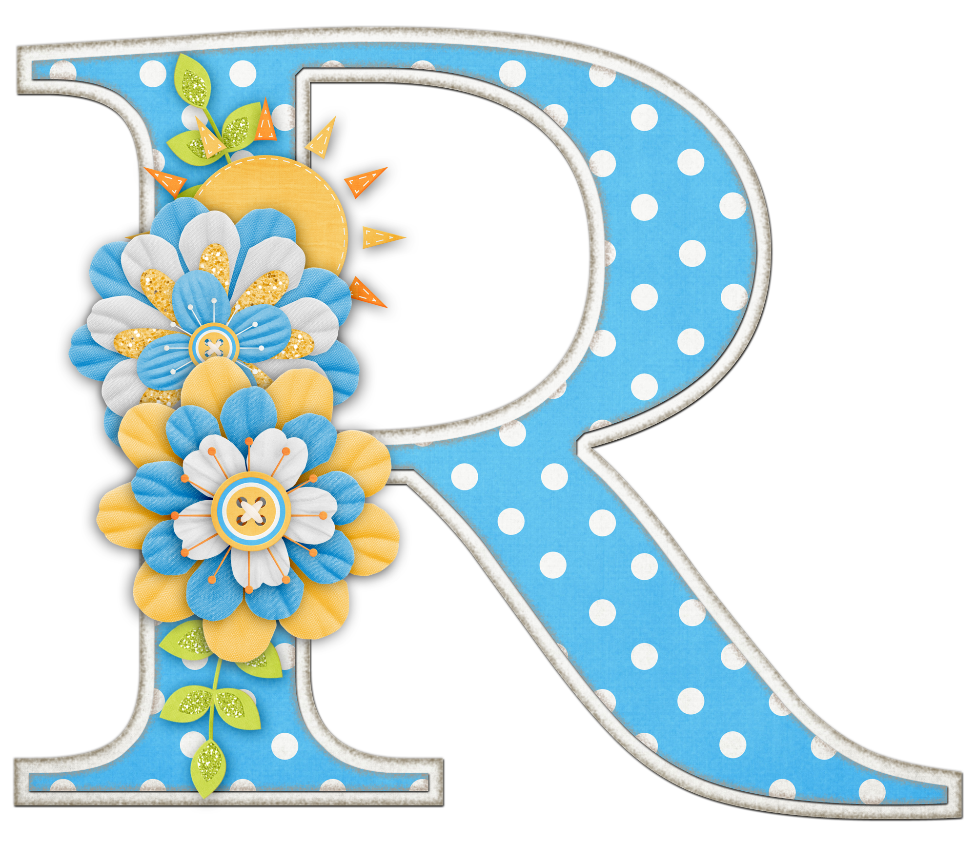 Alfabeto colores y flores. R clipart initial
