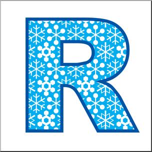 Clip art alphabet set. R clipart large letter