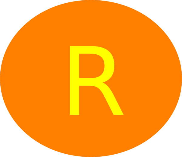 Circle orange clip art. R clipart letter