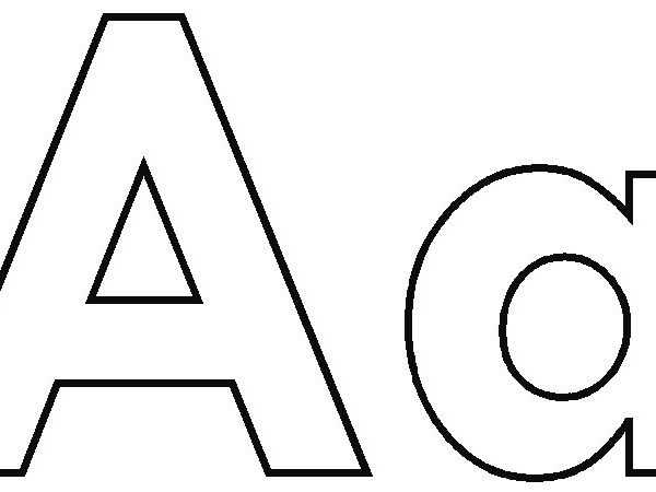 R clipart letter aa. Black and white clipartxtras