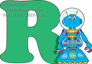 Letters of the alphabet. R clipart letter number