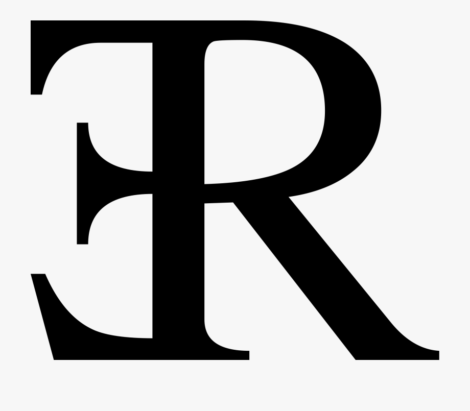 R clipart letter. Reversed e and free