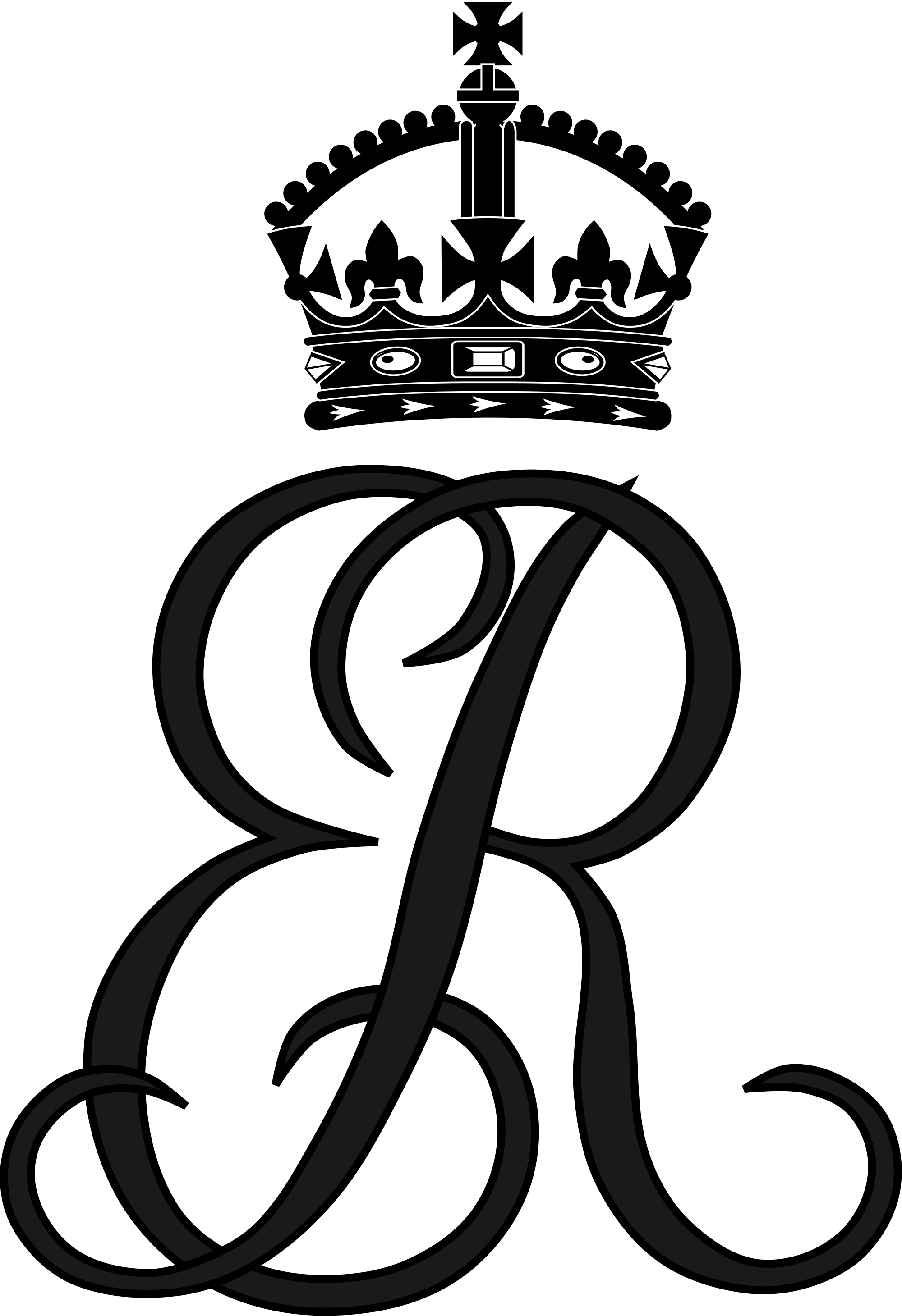 R clipart monogram. File royal of queen