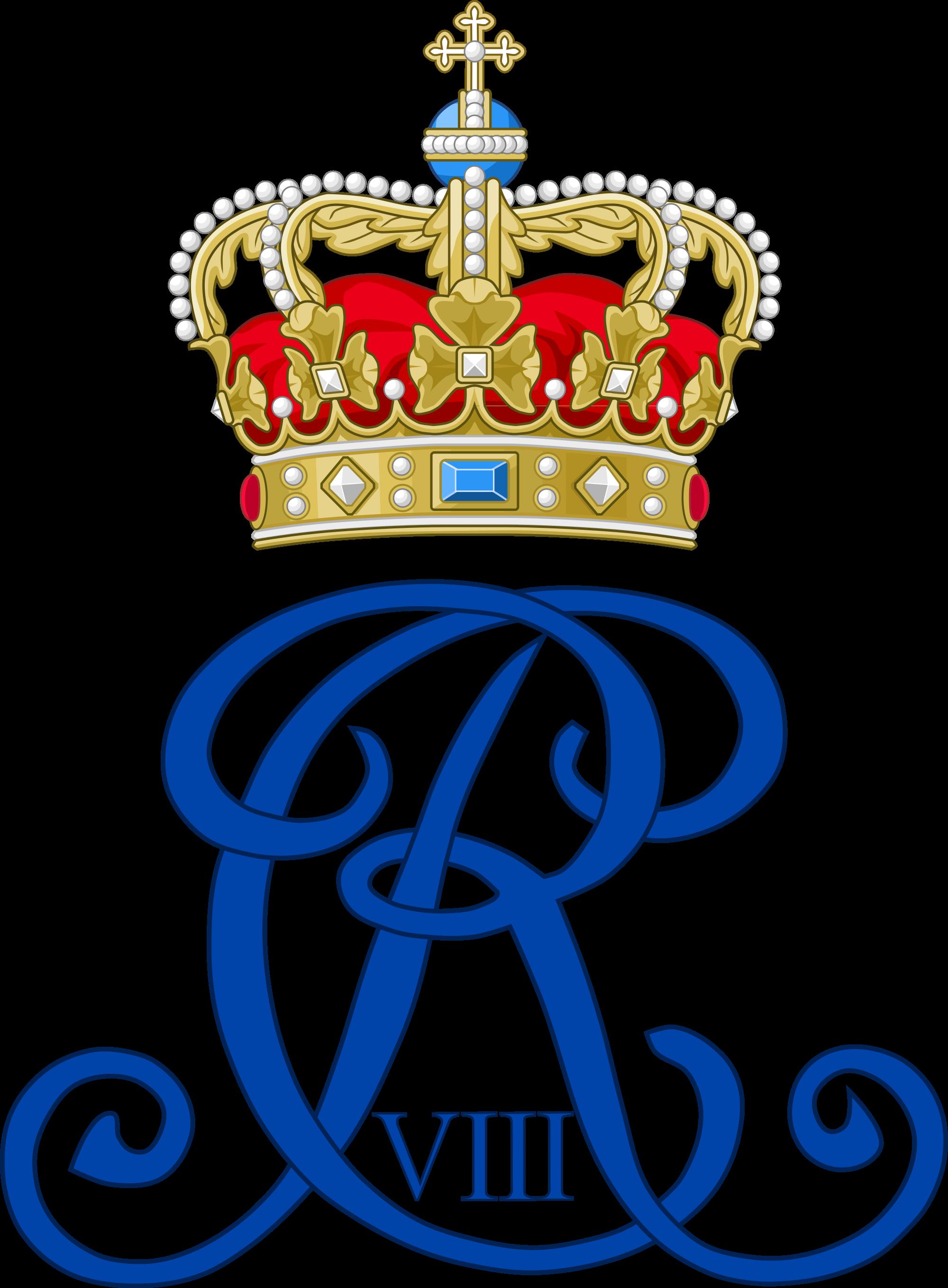 R clipart monogram. Royal of king christian