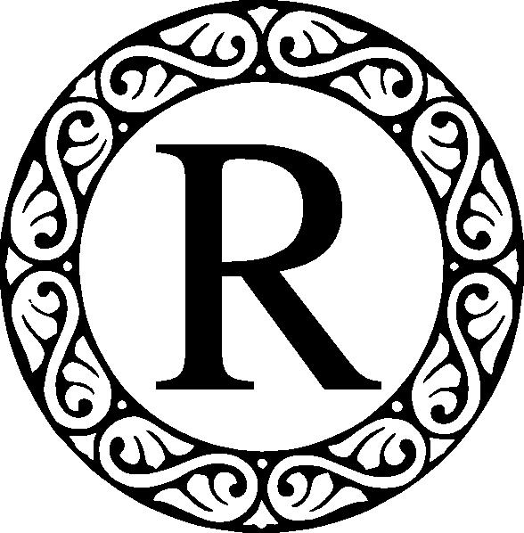 R clipart monogram. Clip art at clker