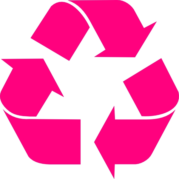 R clipart pink. Recycling clip art at