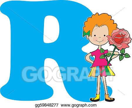R clipart potos. Drawing alphabet girl gg