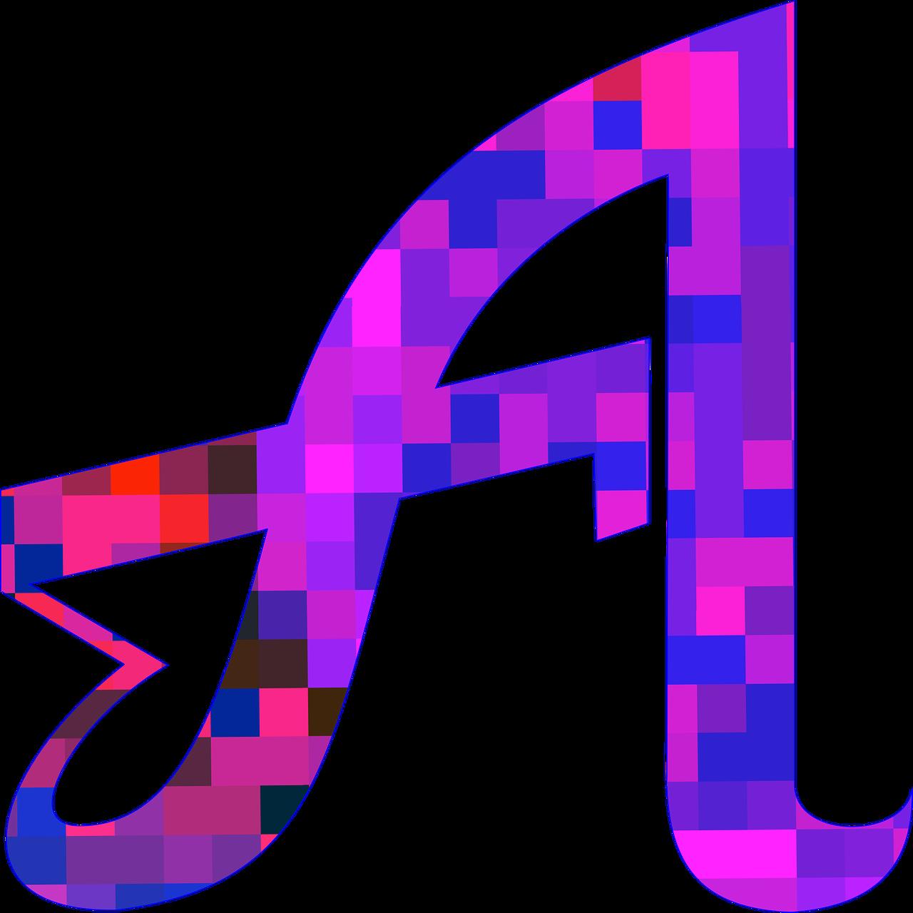 Letter logo clip art. R clipart purple