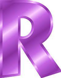 R clipart purple. Letter google s k