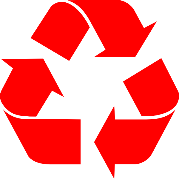 Recycle clip art at. R clipart red