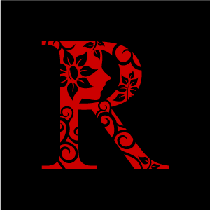 Graphic design of flower. R clipart red