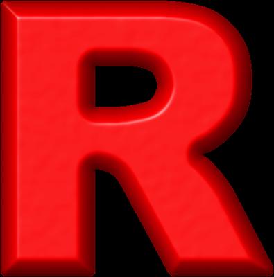 Presentation alphabets refrigerator magnet. R clipart red letter