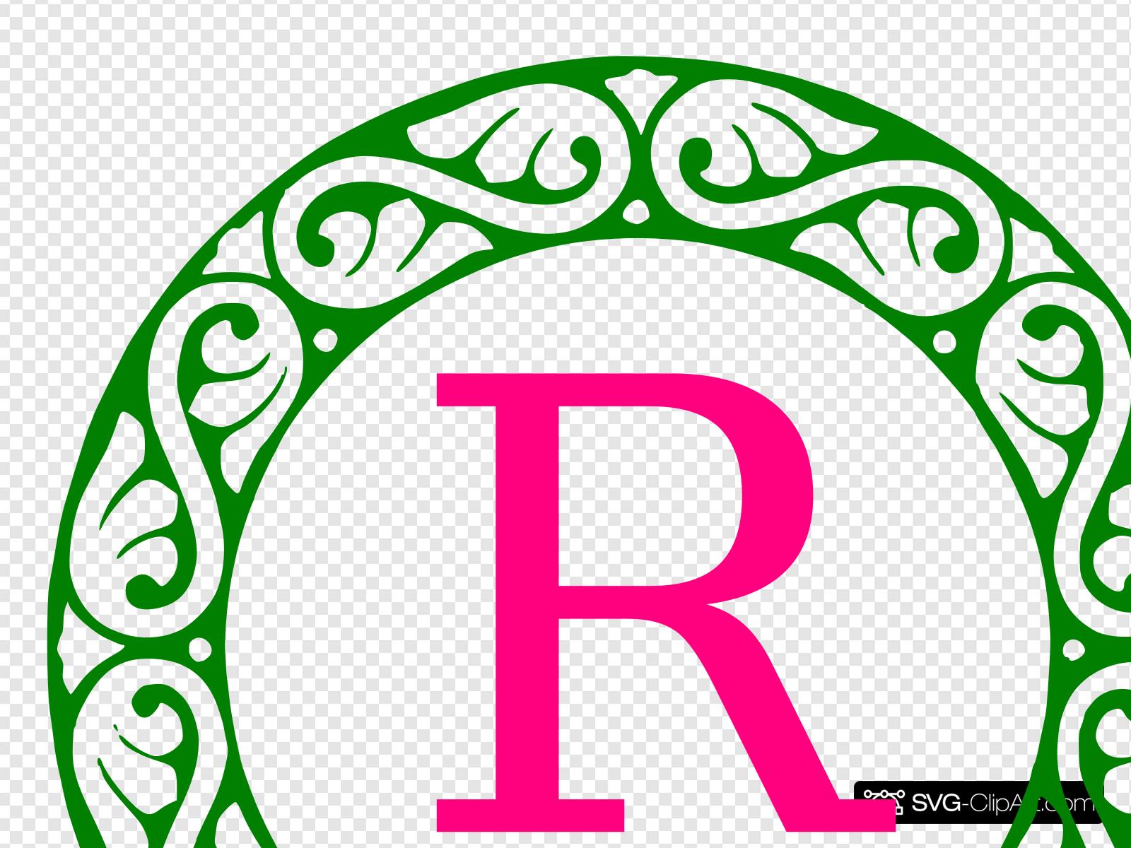 Letter monogram clip art. R clipart svg