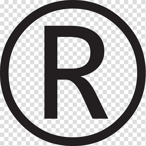 Letter logo registered symbol. R clipart trademark