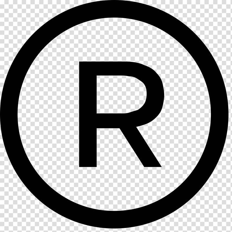 R clipart trademark. Registered symbol service mark