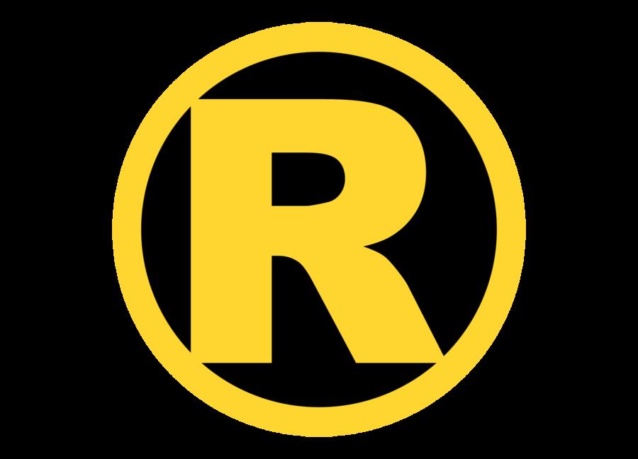 R clipart trademark. Image classic robin logo