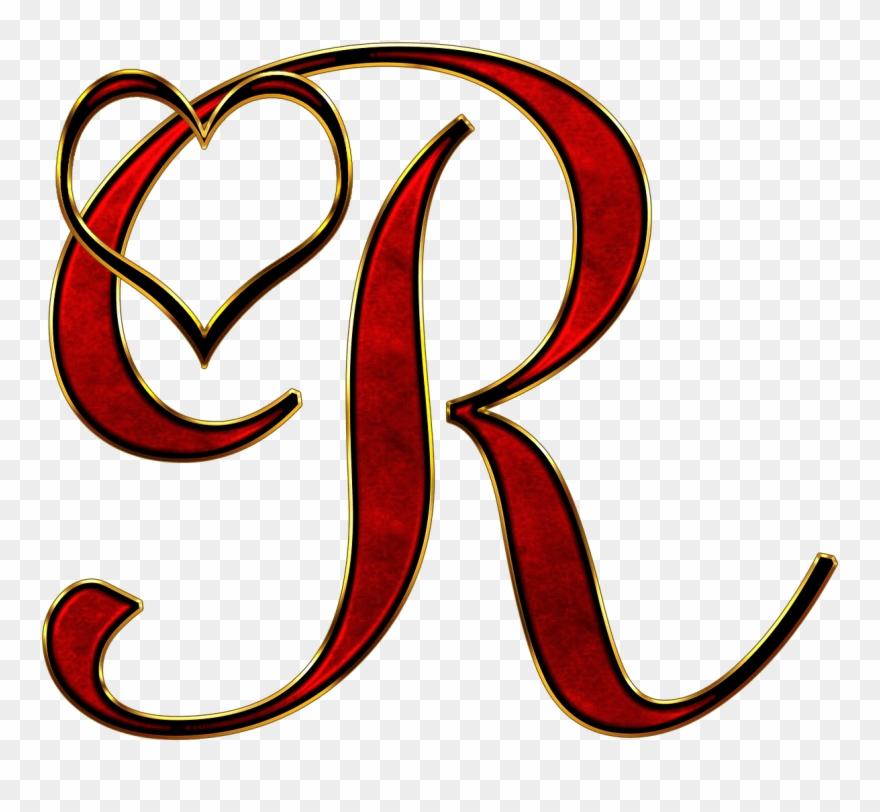 Valentine capital letter png. R clipart transparent