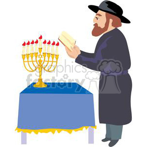 Royalty free jewish vector. Rabbi clipart