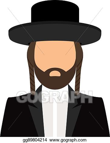 Eps illustration jewish orthodox. Rabbi clipart