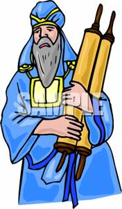 Rabbi clipart. A carrying the scrolls